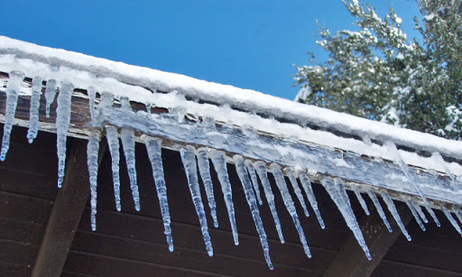 icicles after snow
