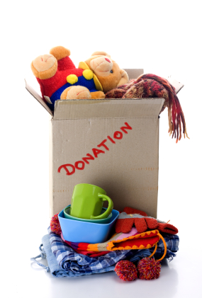 Donate unused items to people in need.