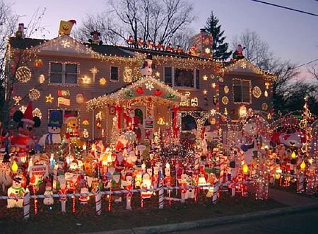 Over the top holiday decor