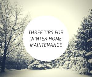 winter home maintenance